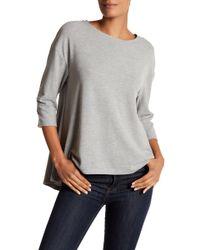 Philosophy Apparel - Split Back 3/4 Length Sleeve Sweater - Lyst