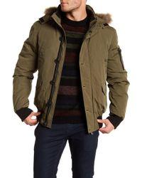 ELEVEN PARIS | Ernest Faux Fur Trim Hooded Jacket | Lyst