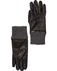 DIESEL - Girib Leather & Wool Gloves - Lyst