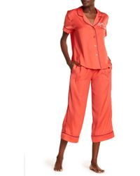 Room Service - Silky Embroidered 2-piece Pajama Set - Lyst