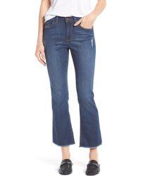Halogen - Raw Hem Stretch Straight Leg Jeans (stardust) (regular & Petite) - Lyst