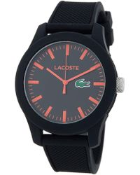 Lacoste - Men's 12/12. Red Hand Watch - Lyst
