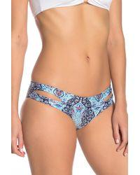 ceb92a7d4b4d66 L*Space Costa Fiesta Estella Cutout-side Swim Bikini Bottom Sorbet in  Orange - Lyst