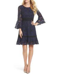 Eliza J - Bell Sleeve Lace Dress - Lyst