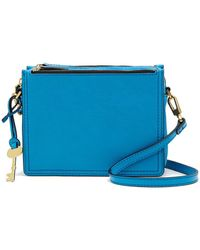 Fossil - Campbell Leather Crossbody Bag - Lyst