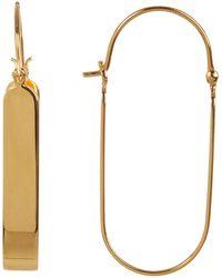Argento Vivo - Rounded U 40mm Hoop Earrings - Lyst
