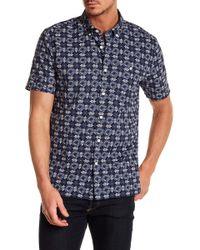 Jack Spade - Short Sleeve Flower Tile Trim Fit Shirt - Lyst