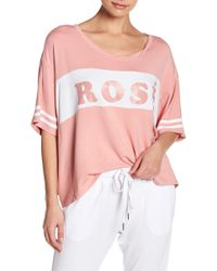 The Laundry Room - Rose' Baggy Team Tee - Lyst