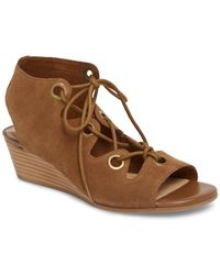 Bella Vita - Ingrid (cognac Suede Leather) Women's Wedge Shoes - Lyst