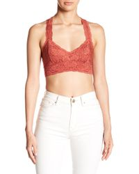 bcbb5011ae Lyst - Free People Galloon Lace Halter Bralette