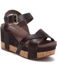 Antelope Two-tone Platform Wedge Sandal