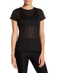 Warrior by Danica Patrick Active - Sheer Back Cutout Tee - Lyst