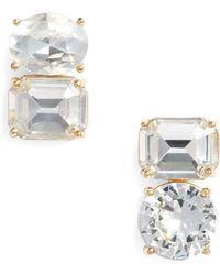 Kate Spade - Double Drop Asymmetrical Stud Earrings - Lyst