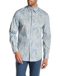 Perry Ellis - Speckle Paisley Regular Fit Shirt - Lyst
