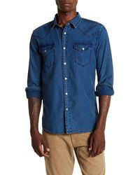 Blank NYC - Old Homestead Long Sleeve Slim Fit Shirt - Lyst