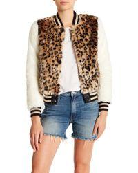 Mother - Faux Fur Smocked Jacket - Lyst