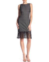 Julia Jordan - Sleeveless Lace Fringe Dress - Lyst