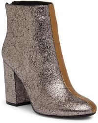 Kenneth Cole - Cassandra Two-tone Leather Bootie - Lyst