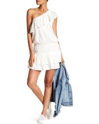 Joie - Kolda One-shoulder Ruffle Embroidered Dress - Lyst