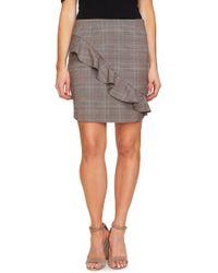 Cece by Cynthia Steffe - Glen Plaid Miniskirt - Lyst