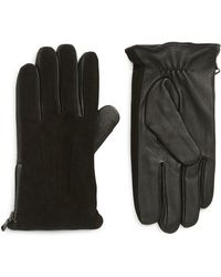 John Varvatos - Side Zip Leather Gloves - Lyst