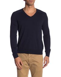 Brooks Brothers - V-neck Solid Sweater - Lyst