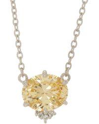 Judith Ripka - Flora Gemstone Pendant Necklace - Lyst