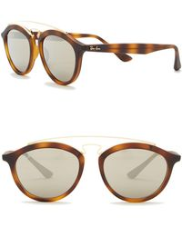 a1b08bd1ca Ray-Ban Light Havana Square-frame Sunglasses With Brown Gradient ...