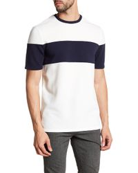 Vince Camuto - Colorblock Stripe Textured Tee - Lyst