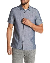 Perry Ellis - Solid Linen Blend Shirt - Lyst