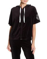 Juicy Couture - Short Sleeve Velour Zip Hoodie - Lyst