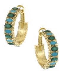 1928 - Stone Small 26mm Hoop Earrings - Lyst