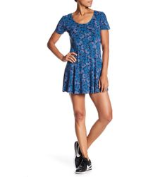 RVCA - Last Chance Short Sleeve Minidress - Lyst