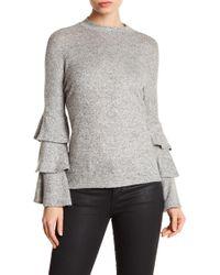 Soprano - Triple Tiered Bell Sleeve Sweater - Lyst