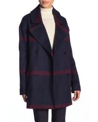 Tommy Hilfiger - Plaid Double Breasted Coat - Lyst