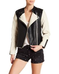 Scotch & Soda - Leather Biker Jacket - Lyst