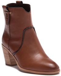 G.H.BASS - Sophia Leather Western Bootie - Lyst
