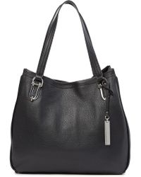 7e341e0c5b5 Lyst - Vince Camuto Clem – Leather Hobo in Black