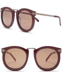 Karen Walker - Super Lunar 53mm Sunglasses - Lyst
