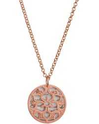 Dogeared - 14k Rose Gold Vermeil Maya Angelou Continue To Let Gratitude Pendant Necklace - Lyst