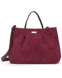 MILLY - Astor Ruffle Suede Tote Bag - Lyst