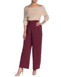 Blu Pepper - Polka Dot Print Wide Leg Pants - Lyst