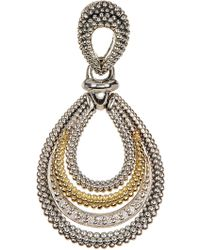Lagos - 18k Gold & Sterling Silver Soiree Diamond Multi Oval Pendant - 0.06 Ctw - Lyst