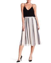 Anne Klein - Bridle Striped Midi Skirt - Lyst