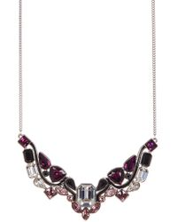Swarovski - Impulse Multi Color Faceted Crystal Bib Necklace - Lyst