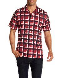 7 For All Mankind - Haze Plaid Short Sleeve Regular Fit Shirt - Lyst