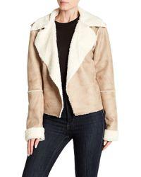 Splendid - Faux Shearling Lined Jacket - Lyst