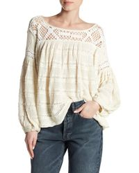 Free People - Someday Crochet Yoke Jumper - Lyst
