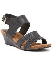 Söfft - Velden Leather Wedge Sandal - Lyst