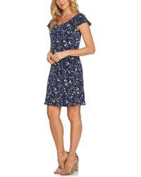 Cece by Cynthia Steffe - Graceful Flora Puff Sleeve Dress - Lyst